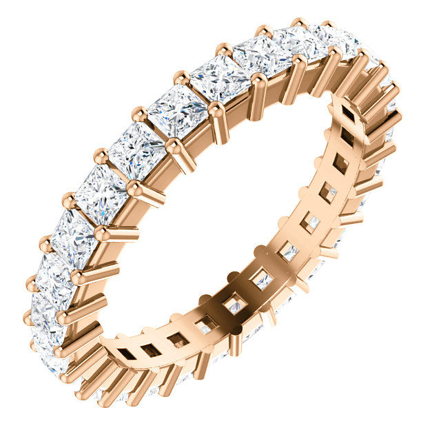 14Kt Rose Gold Prong Set Diamond Eternity Ring