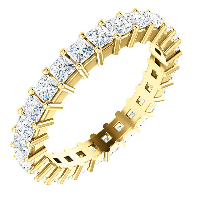 14Kt Yellow Gold Prong Set Diamond Eternity Ring