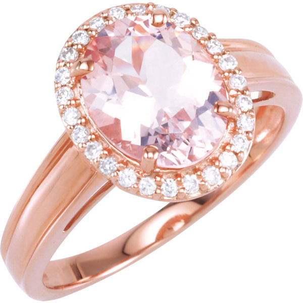 Morganite & Diamond Fashion Ring
