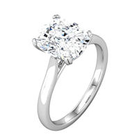 Cathedral Antique Cushion Solitaire Engagement Ring